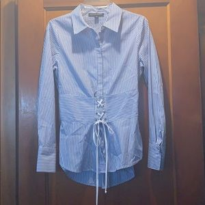 Boston proper striped button up shirt small